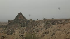Air balloon trips at Famous city  Cappadocia Turkey Stock Footage