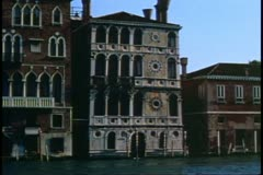Venice, Italy, Palazzo, house on The Grand Canal, medium shot Stock Footage