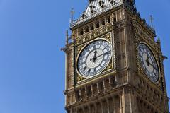 big ben at westminster london, england untied kingdom - stock photo