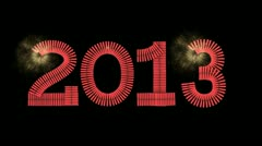 Chinese Fire Crackers 2013 Stock Footage