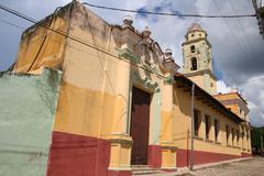 Cuba, Trinidad, streetview, colonial house - stock photo