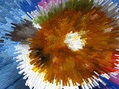 multi-coloured explosion - stock illustration