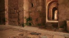 Corridor of Saint Nicholas Church In Demre Antalya Stock Footage