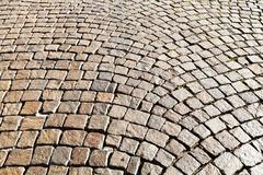 medieval cobble stone pavement - stock photo