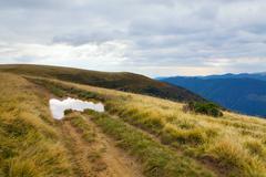 autumn mountain view - stock photo