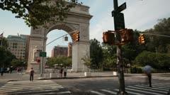 Washington Square Park Arch Stock Footage
