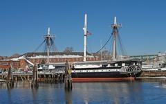 Uss constitution sailing ship Stock Photos