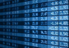 Stock Illustration of Stock market electronic board
