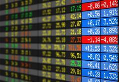Stock market electronic board Stock Illustration