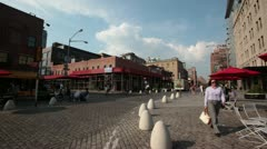 NYC Cobblestone Street Stock Footage