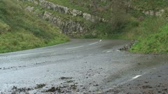 Road in the Cheddar Gorge (1) - stock footage