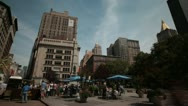 New York City- Flat Iron District Stock Footage