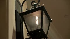 Gas lamp Stock Footage