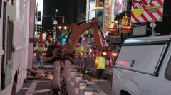 New York City - Times Square Construction Stock Footage