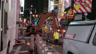 Stock Video Footage of New York City - Times Square Construction