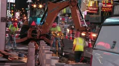 New York City - Times Square Construction 2 - stock footage