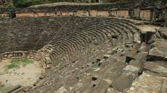 Roman  amphitheater in Myra Stock Footage
