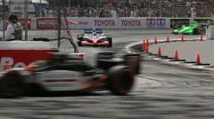 Long Beach Grand Prix Indy Race 2011 07 Stock Footage