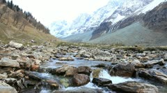 Icy river in sonamarg, kashmir, india Stock Footage