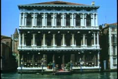 Venice, Italy, Palazzo, Ca' Rezonica, house on The Grand Canal Stock Footage