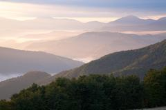Stock Photo of mountain hazy daybreak