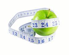 slimming apple - stock photo