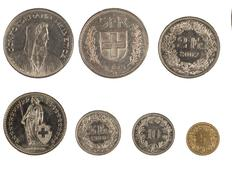 Stock Photo of swiss coins