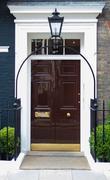 Stock Photo of brown door