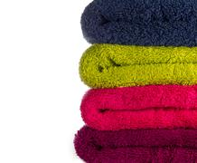 coloufull towels - stock photo