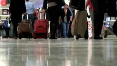 Passengers, Luggage, Suitcases, Baggage, Terminals - stock footage