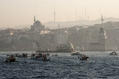 Maiden's tower of istanbul Stock Photos