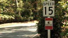 720p Warning Neighborhood Watch Sign 2 Stock Footage