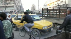 Traffic in Aleppo, Syria Stock Footage