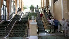 1440 Escalator at a Hotel Stock Footage