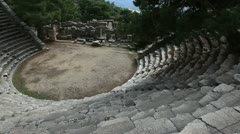 Ancient Amphitheater Stock Footage