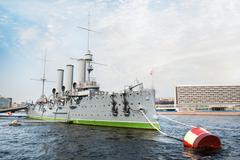Aurora cruiser museum, saint-petersburg, russia Stock Photos