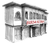 bursa kebap - stock illustration