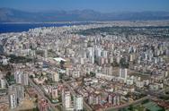 Air photo of Antaly city in Turkey. Stock Photos