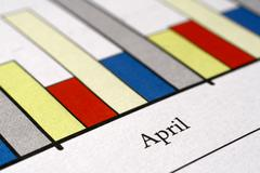 Sales charts Stock Photos