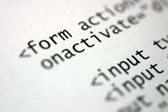 html code - stock photo