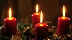Advent wreath Stock Footage
