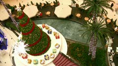 Christmas at the Mall Stock Footage