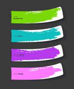 Set of color stickers with splash Stock Illustration