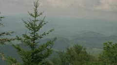 View of the Appalachian Mountains from the Blue Ridge Parkway Stock Footage