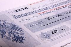 Certificates - stock photo