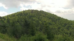 Pan Across the Green Hills of the Blue Ridge Mountains in the Summer Stock Footage
