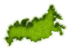 Stock Illustration of russia grass map