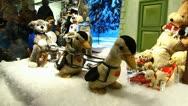 Europe German Christmas Advent Fair Market Xmas window display Stock Footage