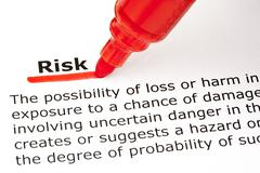 risk underlined with red marker - stock photo
