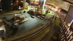 Model Train at Christmas Village, Version #1 Stock Footage